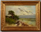 Charles Harry Eaton painting, Costal View with Trees