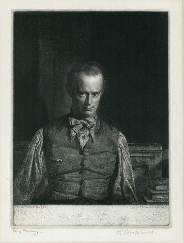 Portrait of Henry Rushbury, Gerald Brockhurst