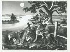 John S. deMartelly lithograph, Old Moon