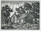 Birger Sandzen, woodblock print, Blue Valley Farm