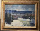 Albert Quigley painting, Winter Landscape