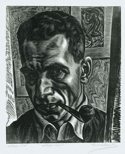 Isac Friedlander, Self Portrait wood engraving