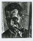 Isac Friedlander, Self Portrait wood engraving
