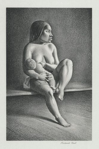Rockwell Kent lithograph, Greenland Mother