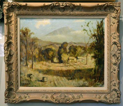 Fujio Yoshida painting, Mountain Landscape