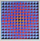 Victor Vasarely screen print, Op Art, signed