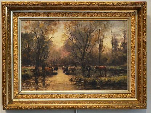 William Preston Phelps, Cows at a Stream