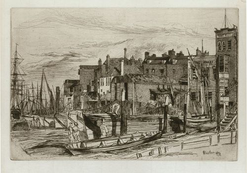 Whistler etching, Thames Police