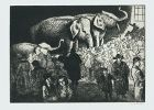 Laura Knight etching, Salt and Saucy