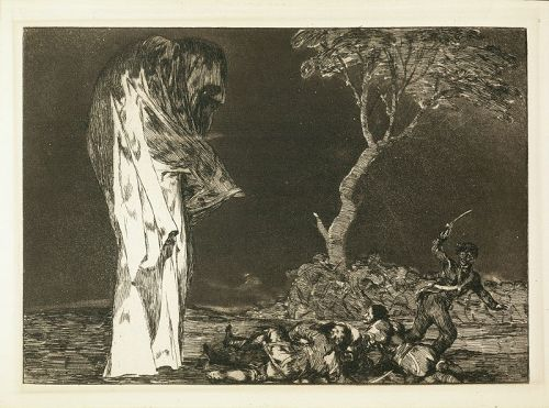 Disparate de Miedo, plate 2, Francisco Goya, etching