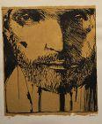 Leonard Baskin, Self Portrait, lithograph