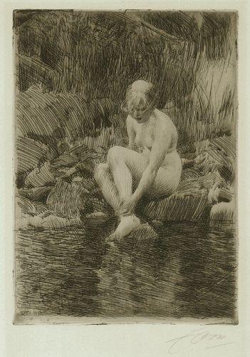 Anders Zorn etching, Dagmar