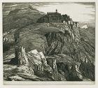 Open Saracinesco, 1927 etching by Edward Bouverie-Hoyton