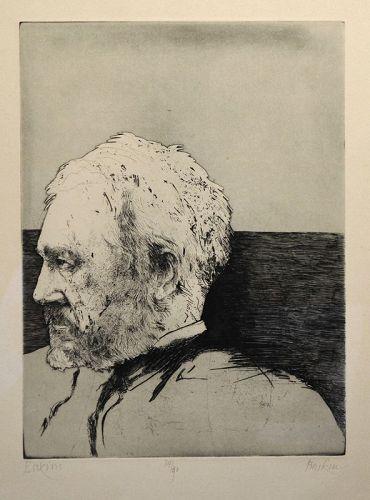 Leonard Baskin etching, Thomas Eakins