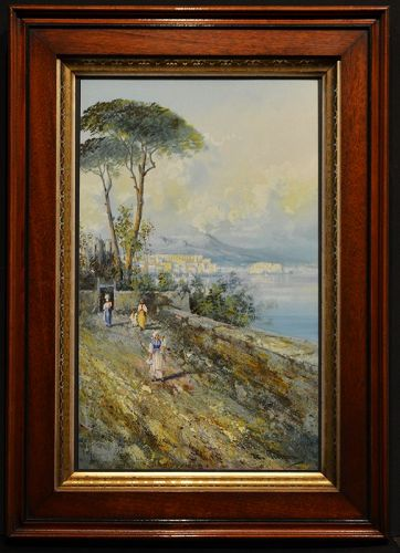 Maria Gianni painting, View of Naples