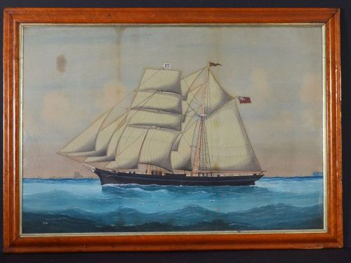 American 19th century Ship Portrait painting