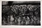 "Kerr Eby lithograph, ""Where do we Go"", world war I"
