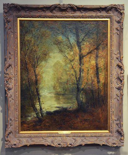 Franklin de Haven painting, Autumn Stream