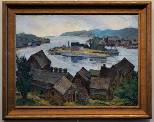 Sam Thal painting, Gloucester Landscape,1939