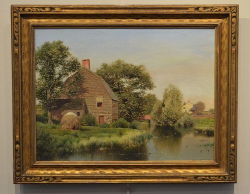 Henry Pember Smith painting, Lakeside Cottage