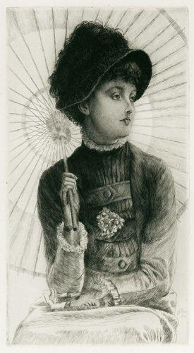 Jacques Tissot etching, L'Ete, 1878