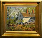 Susan Ricker Knox painting, Cottage in Spring