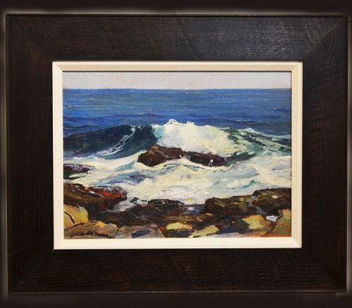 Stanley Woodward painting, Summer Seas, Ogunquit