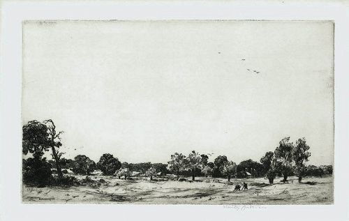 Stanley Anderson etching Perivale England
