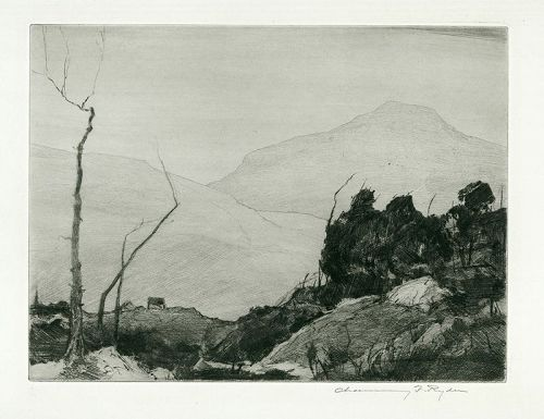 Chauncey Ryder etching, French HIll