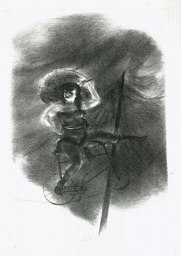 Yasuo Kuniyoshi, The Cyclist, 1939, pencil signed