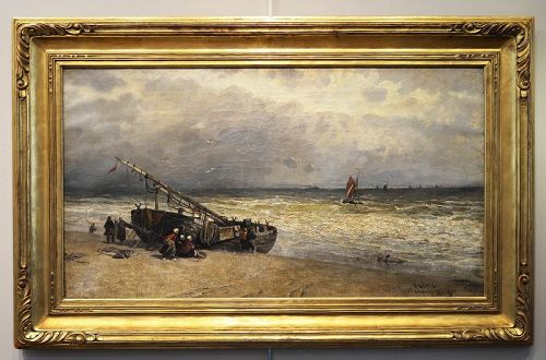 Harry Chase painting, Windy Day Coast of Holland
