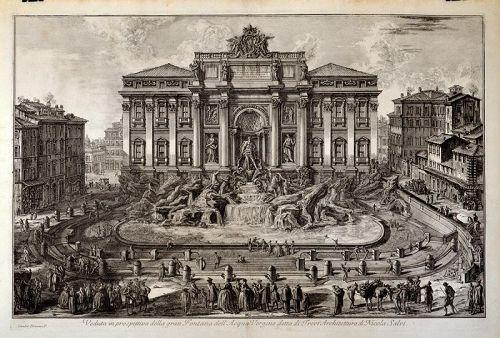 Giovanni Piranesi, Veduta in Prospettiva della gran Fontana ,etching
