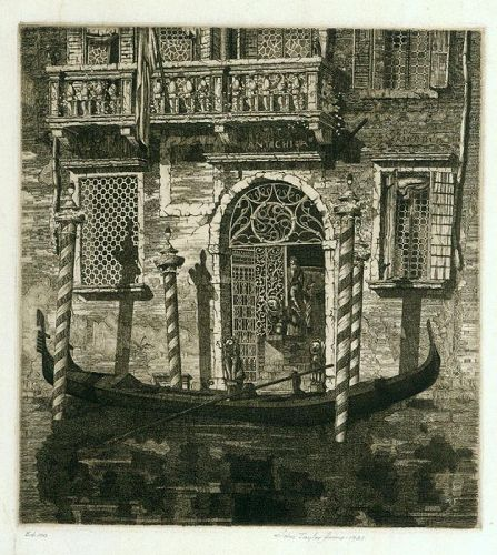 John Taylor Arms etching, Palazzo Dell Angelo