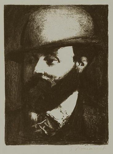 Georges Rouault lithograph, Portrait of Gustave Moreau