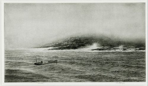 Kerr Eby etching, Little Franklin, pencil signed