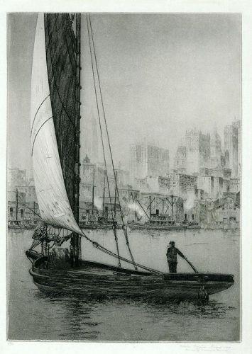 John Taylor Arms etching, Sarah Jane, New York