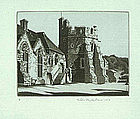 John Taylor Arms,Etching,Stokesay Castle 1942