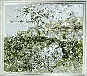 """Nicholas Scalise, Painting, """"Spring Ponte Landolfo"""""""