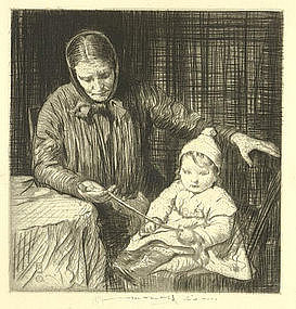 "William Lee Hankey, ""The Ribbon"", etching"