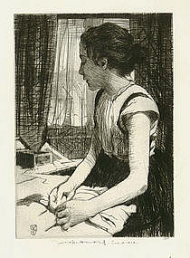 "William Lee Hankey, ""Youth"", etching"