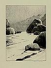 """Albert W. Barker, Lithograph, """"Lambert's Cove"""""""