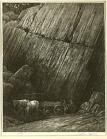 "Albert W. Barker, Lithograph, ""The Quarry No. 2"""