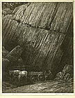 "Albert W. Barker, Lithograph, ""The Quarry No. 2"""
