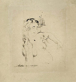 "Arthur Bowen Davies, Lithograph, ""Afternoon"""