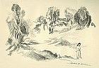 "Arthur Bowen Davies, Lithograph, ""The Enchanted Dream"""
