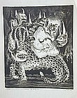 "Adolf Dehn, Lithograph, ""Harlot of Babylon"""