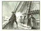 "Gordon Grant, Lithograph, ""Heading For Port"""