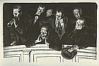 "Joseph Hirsch, Lithograph, ""The Hecklers"""