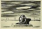 "Lawrence Kupferman, Etching, ""Winthrop Harbor"""