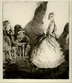 "Paul M. Roche, Etching, ""Spanish Dancer"""